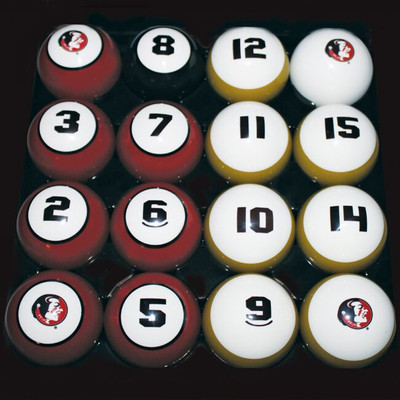 FSU Seminoles Billiard Pool Ball Set