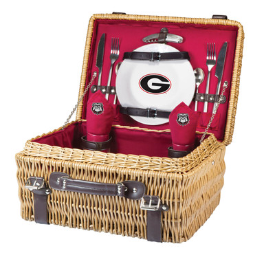 Georgia Bulldogs Champion Picnic Basket