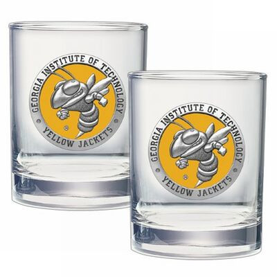 Georgia Tech Yellow Jackets Cocktail Glasses