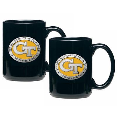Georgia Tech Yellow Jackets Coffee Mug Set of 2