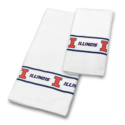 Illinois Fighting Illini Bath Towel Set | Sports Coverage | 04CTTWS4ILUSETS