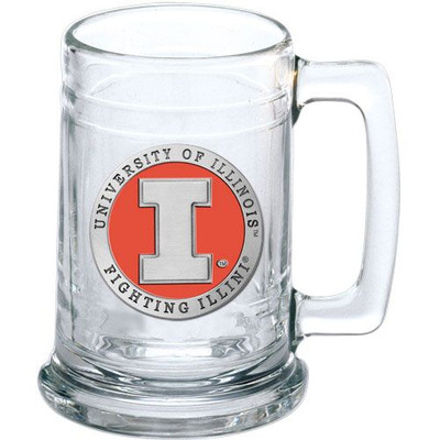Illinois Fighting Illini Beer Mug Set of Two | Heritage Pewter | ST10269EO