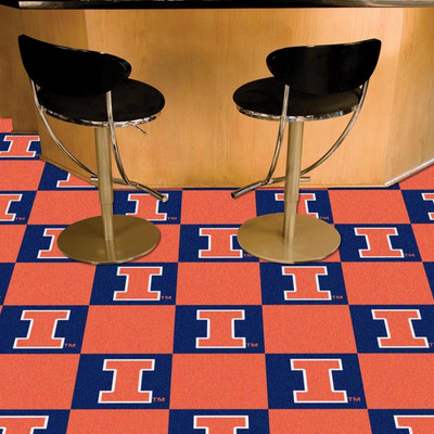 Illinois Fighting Illini Carpet Tiles