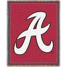 "Alabama Crimson Tide ""A"" Logo AfghanThrow"