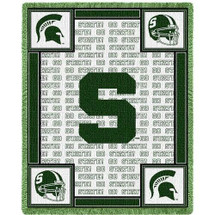 MSU Spartans Logo Stadium Blanket
