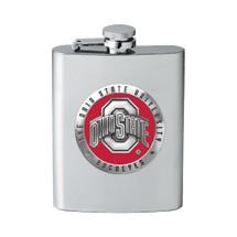 Ohio State Buckeyes Flask   Heritage Pewter   FFS10175E