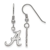 Alabama Crimson Tide A Logo Silver Dangle Earrings