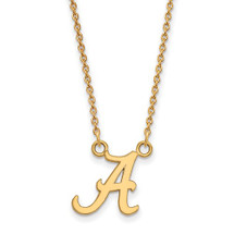 Alabama Crimson Tide 14K Gold A Pendant Necklace