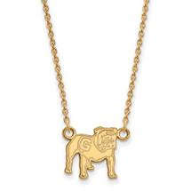 Georgia Bulldogs Uga Mascot 14K Gold Necklace