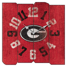 Georgia Bulldogs Vintage Square Wall Clock | Imperial International | 371-3008