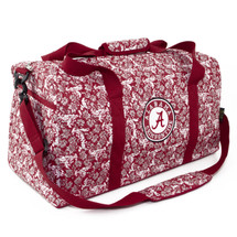 Alabama Crimson Tide Quilted Cotton Large Duffel Bag