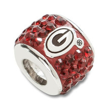 Georgia Bulldogs Sterling Silver Bracelet Bead Charm   Logo Art   UGA070CHM-SS