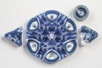 Xander D'Ambrosio -  Blue Cell Murrine Dish & Slice Set