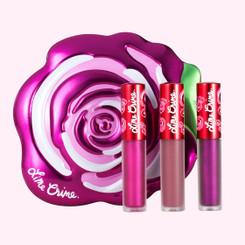 Lime Crime Fuchsia Rose Velve-Tin Mini Lip Set