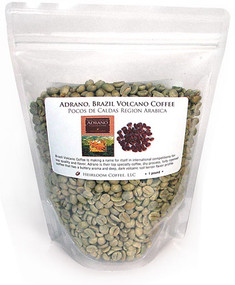 Brazil Adrano™ Volcano Coffee from Poços de Caldas, green unroasted ##for 1lb (larger sizes available)##