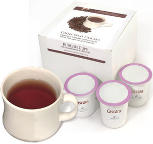 Cascara Fresh Cups for Kuerig-compatible machines ##for a box of 10##