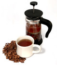 Cascara 12oz bag and French Press##for 12 ounces Cascara and 12-ounce French Press for easiest brewing##