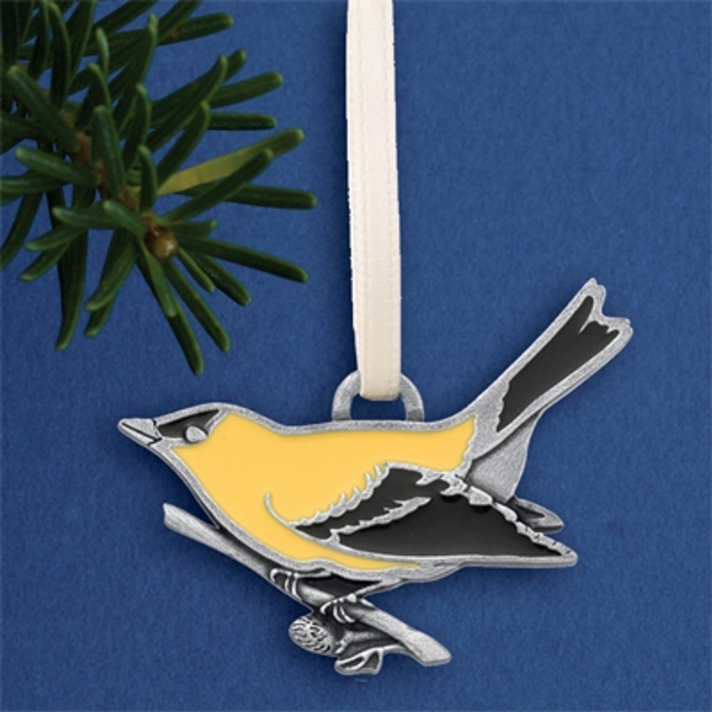 Goldfinch Pewter Ornament