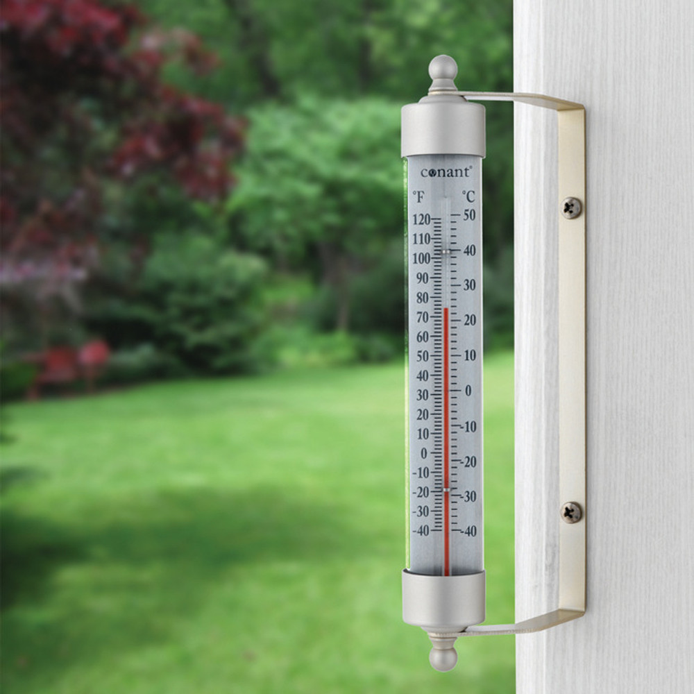 Original Vermont Outdoor Thermometer - Satin Nickel