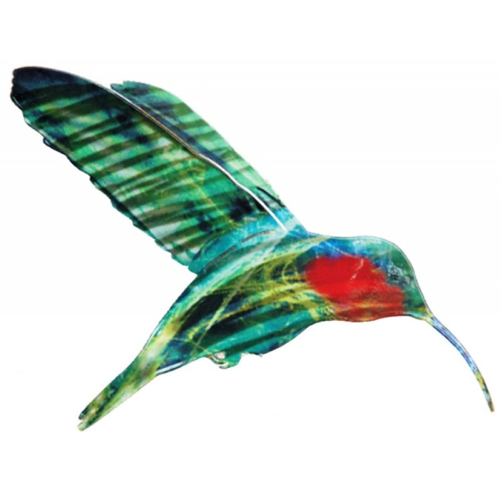... Color Infused Metal Garden Stake   Hummingbird ...