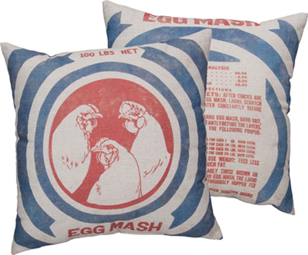 Feed Sack Pillow - Egg Mash
