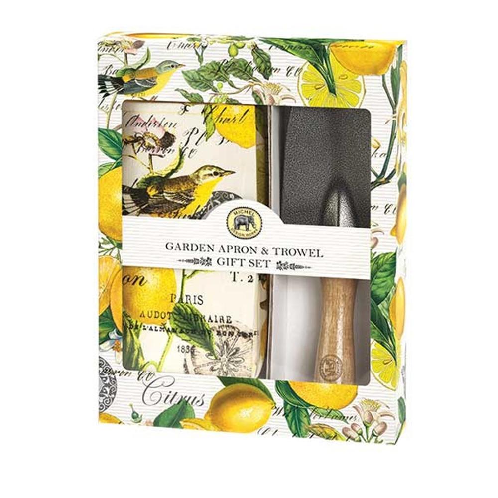 Lemon Basil Garden Apron and Trowel Gift Set
