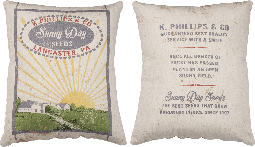 Feed Sack Pillow - Sunny Day Seeds