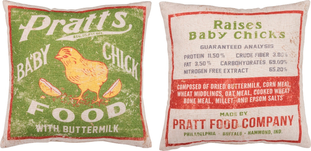 Feed Sack Pillow - Baby Chick