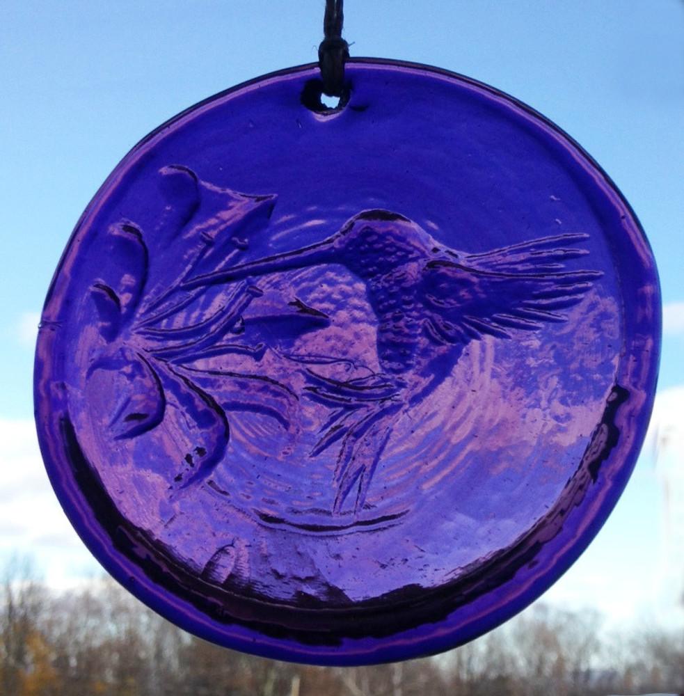 Hummingbird Large Suncatcher (purple)
