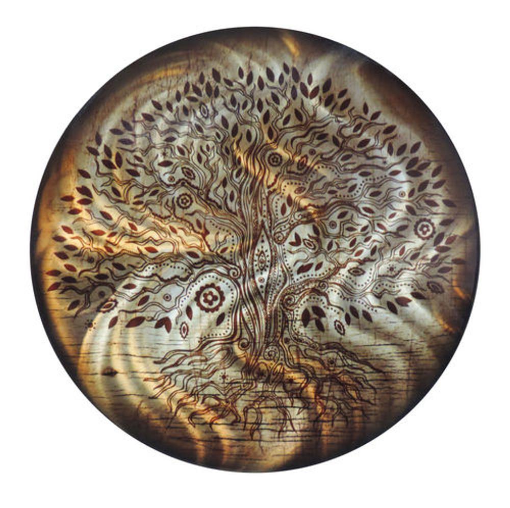 Tree of Life - Light Reflective Wall Art (Amber)