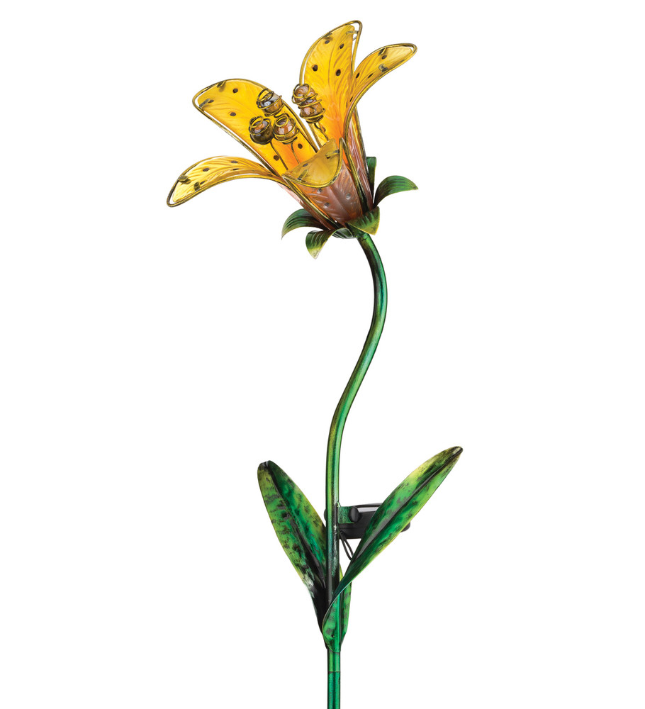 Solar Tiger Lily Stake - Yellow