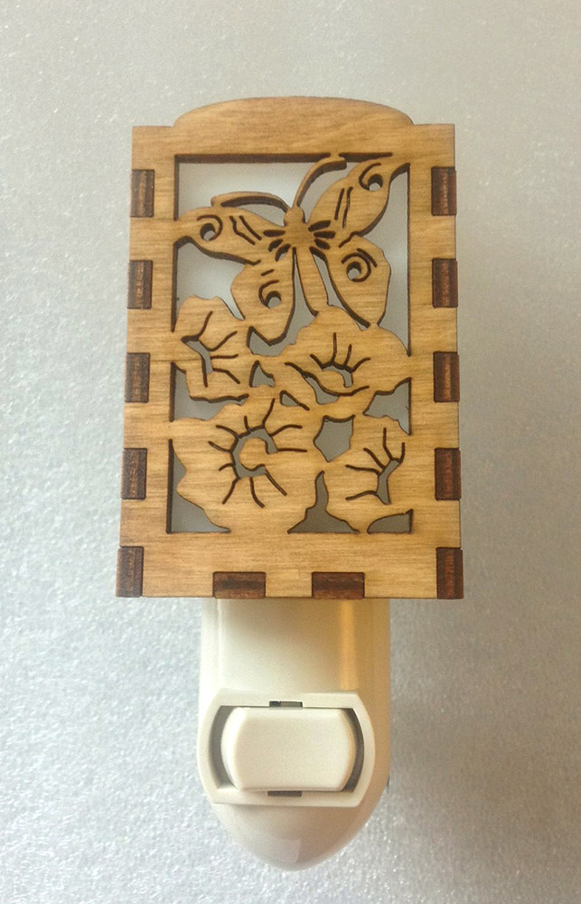 Village Craftsman Wooden Night Lights - Butterfly