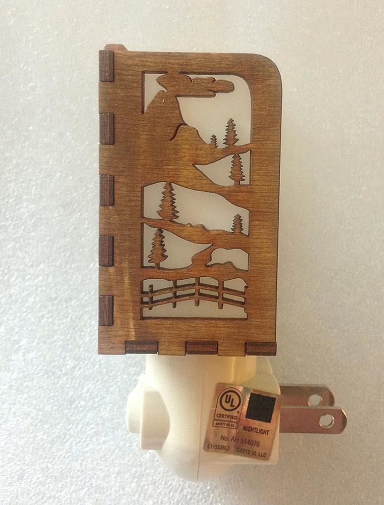 Village Craftsman Wooden Night Lights - Horse
