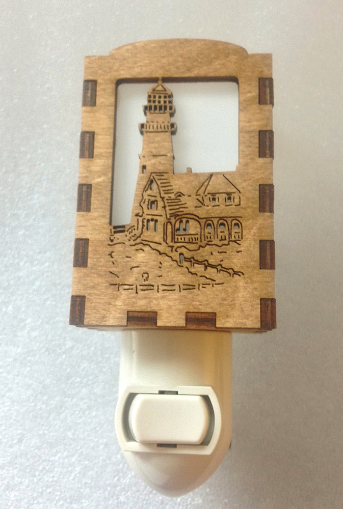 Village Craftsman Wooden Night Lights - Portland Head Lighthouse