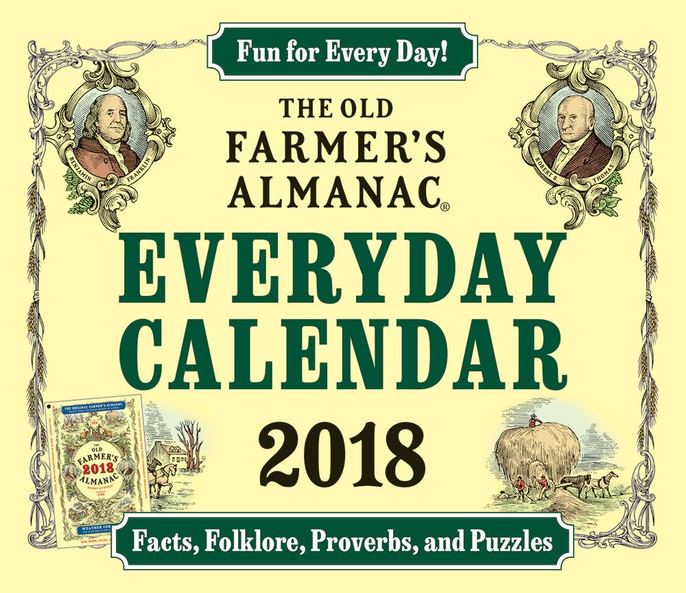 The 2018 Old Farmer's Almanac Everyday Calendar