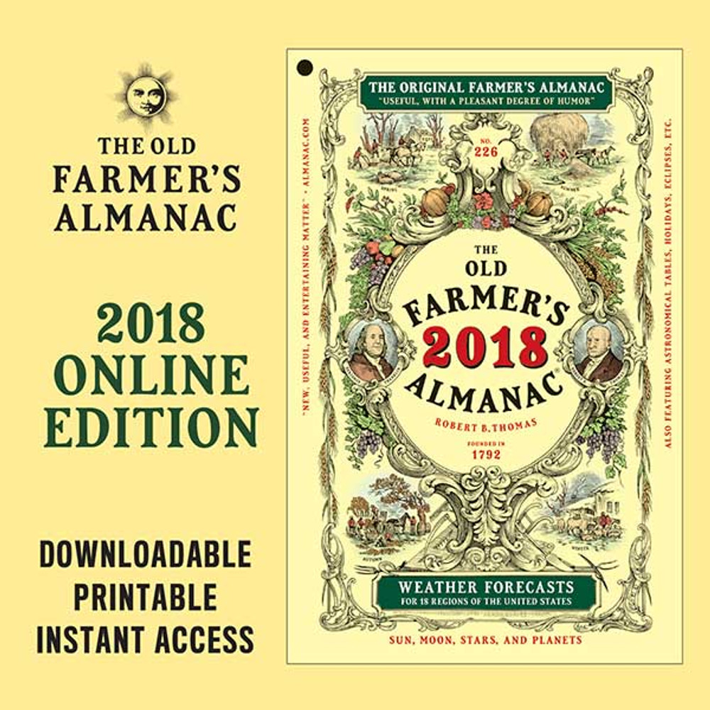The 2018 Old Farmer's Almanac - Online Edition