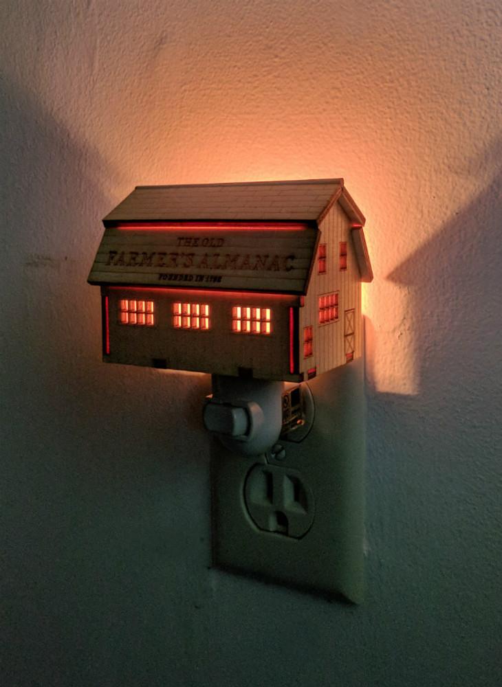 Night Light Casting A Warm Glow