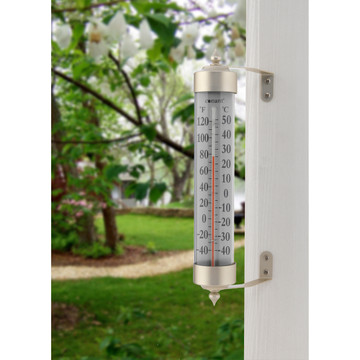 Vermont Grande View Thermometer - Satin Nickel