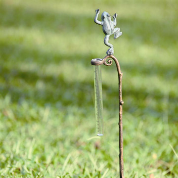 Frog Rain Gauge Garden Stake