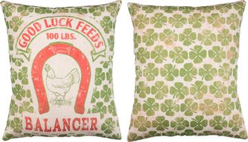 Feed Sack Pillow - Good Luck Feeds