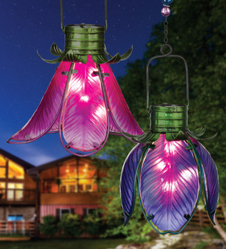 Solar Flower Lantern - Purple Iris