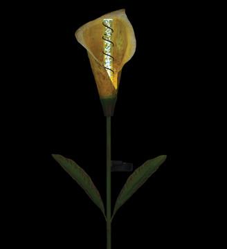 Solar Calla Lily Bubble Stake - Yellow