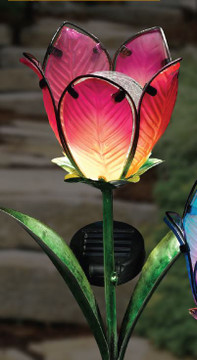 Solar Tulip Stake - Red/Green