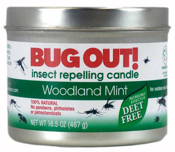 Woodland Mint Bug Out! 2-Wick Candle Tin