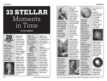 33 Stellar Moments in Time  - Old Farmer's Almanac