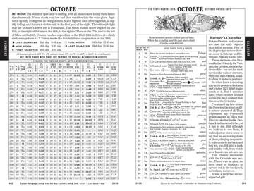 Calendar Pages - Old Farmer's Almanac