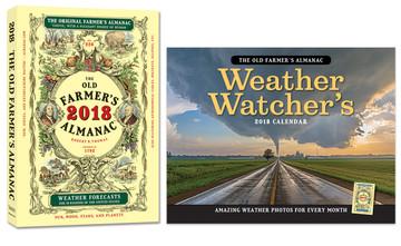 The original Farmer's Almanac and an Almanac Weather Calendar special offer.