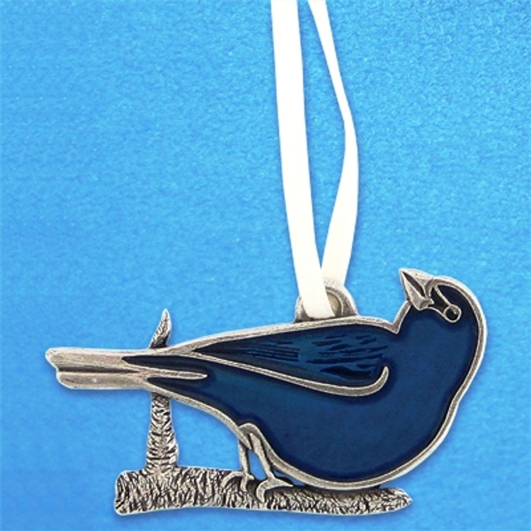 Indigo Bunting Pewter Ornament