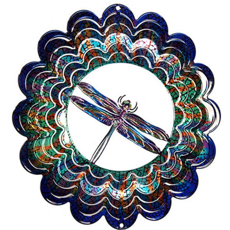 Kaleidoscope Wind Spinner Dragonfly