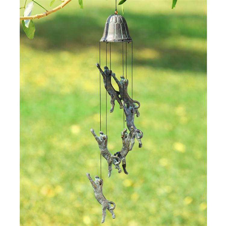 Pouncing Cat Windchime